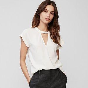 Express Choker Gramercy Blouse White Size XS